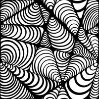 Abstrakt svartvitt sömlöst mönster.