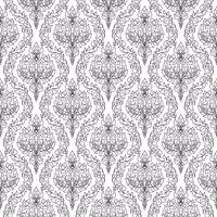 Monochrome thai floral motif seamless background.