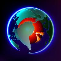 Global warming abstract vector