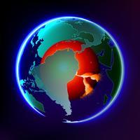 Vector abstracto del calentamiento global