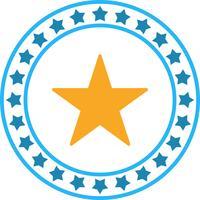 Ícone de estrela complexa de vetor