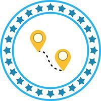 Vector route pictogram