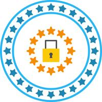 Vector GDPR Security Lock Icon