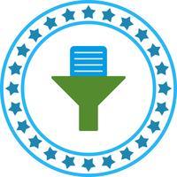 Ícone de filtro de documento de vetor