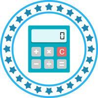 Vector icono de calculadora