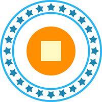 Vector icono de parada