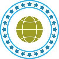 Vektor-Globus-Symbol