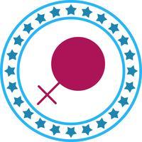 Vector icono de signo femenino