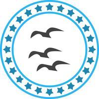 Vektor fliegende Krähen-Symbol