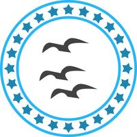Vector Flying Crows Icon