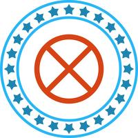 Vector de icono prohibido