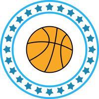 Icona di pallacanestro di vettore