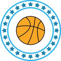 Icône de basket-ball de vecteur