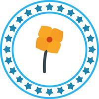 Ícone de flor do vetor