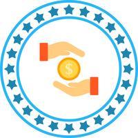 Vektor pengar sparande ikon