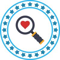Vector Search Heart Icon