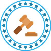Vector Law Hammer Icon