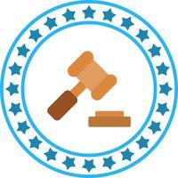 Ícone de martelo de lei de vetor