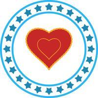 Icono del amor del corazón del vector