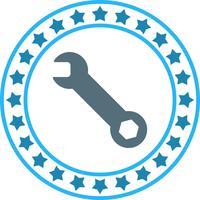 Vector icono de llave inglesa