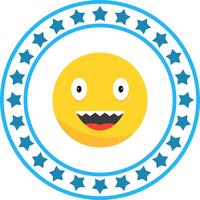 Vector icono de risa emoji