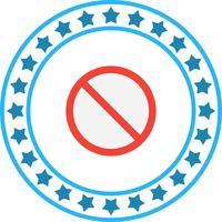 Icône interdite de vecteur