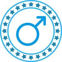 Ícone de sinal masculino de vetor