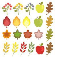 elemento plano de otoño estilo