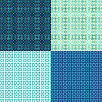seamless small geometric patterns vector
