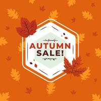 Vecteur de vente d'automne