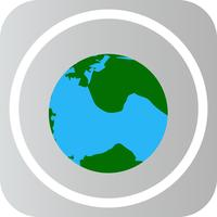 Vector icono de globo