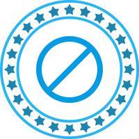 Icône de vecteur interdite