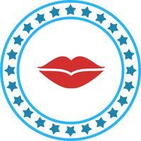 Icône de vecteur de lèvres