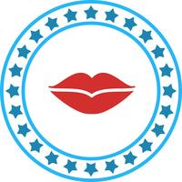Vektor-Lippen-Symbol