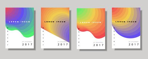 Fluid color covers set vector
