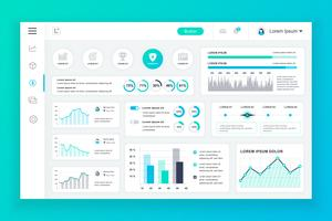 Dashboard admin panel vector design template