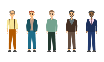 Group of Businessman character design.