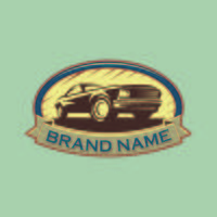 A template of classic or vintage or retro car logo design. vinta