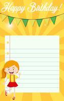 Een verjaardagsbriefje