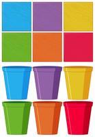 Set von Farbobjekten