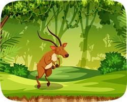 Elk in jungle scene vector