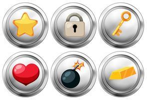 Set av tecknad ikoner