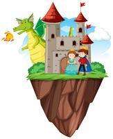 Príncipe e princesa no castelo
