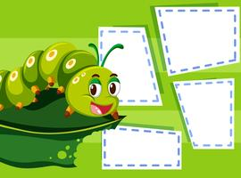 A caterpillar on note template