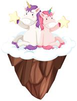 Unicorn character on white background vector