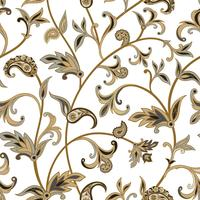 Floral  tiled pattern. Flourish oriental background. Ornament wi