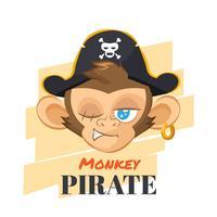 Singe avec chapeau de pirate