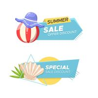 Beach banners set