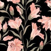 Blomma sömlöst mönster. Blomträdgårdsbakgrund