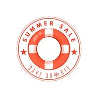 Vecteur de conception de bannière d'été